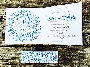 Papiernictvo - svadobné oznámenie Folk - 10604325_