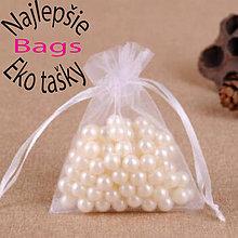 Obalový materiál - Textilné mini vrecúčko , vyrobené z organzy - 10605294_