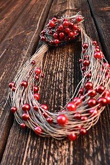 Sady šperkov - EKO sada - red&bordeaux - 10605280_