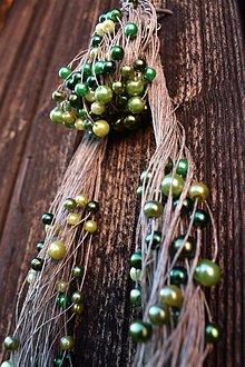Sady šperkov - EKO sada - green&lime - 10605380_
