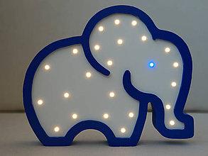 Detské doplnky - Detská nočná lampa Slon s led diódami - 10605527_