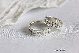 Prstene - folk svadobné obrúčky - Detva - 10605244_