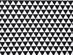 Úžitkový textil - Black and white triangles - 10608298_
