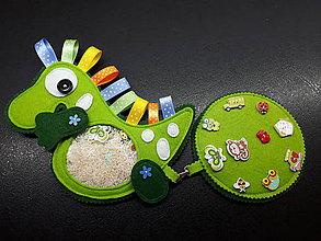 Detské doplnky - Spy bag Dino (Dino s ryžou a stužkami) - 10608927_