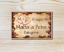 Darčeky pre svadobčanov - Svadobná magnetka - 10609071_