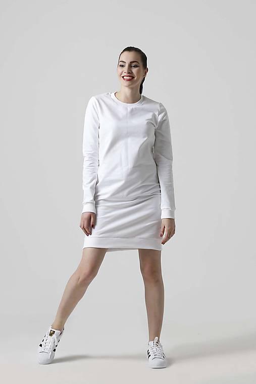 940643aa515d Teplákové šaty biele   ZuzanaZachar - SAShE.sk - Handmade Šaty