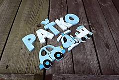 Detské doplnky - drevené písmená (6,5cm výška, hrubka 6mm) - 10609405_