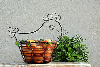 Košíky - Jarní slepička. Drátovaný košík. - 10609786_