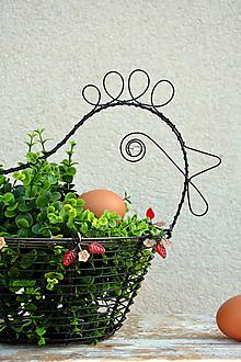 Košíky - Jarní slepička. Drátovaný košík. - 10609817_