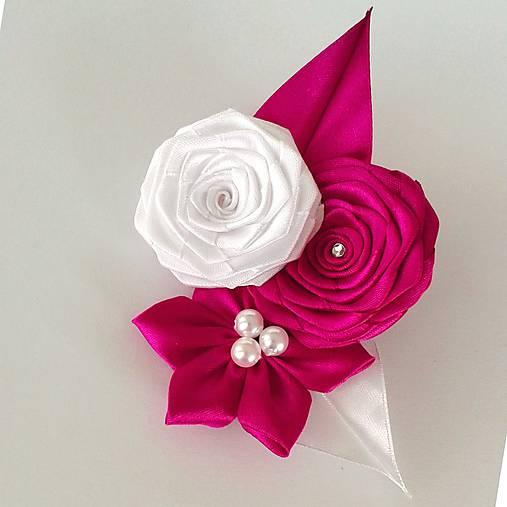 Pierko pre ženícha ružová Amarant