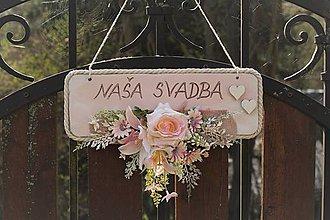 Tabuľky - Tabuľka na svadbu - 10608697_