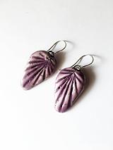 Náušnice - fialové/keramika/ - 10609787_