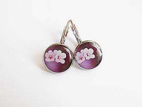 Náušnice - Živicové náušnice - Kvety čerešne (chirur.oceľ) - 10607776_