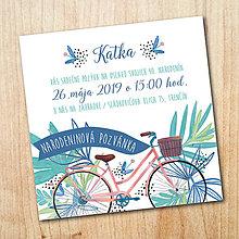 Papiernictvo - Narodeninová pozvánka - Bicykel - 10607815_