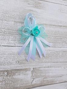 Pierka - mint, mentolové svadobné pierko pre rodičov - 10608151_