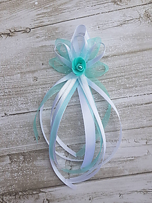 Pierka - mint, mentolové svadobné pierko pre starejšieho - 10608161_