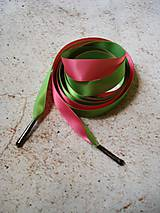 Iné doplnky - Šnúrky do topánok - zeleno-ružové - 10607617_
