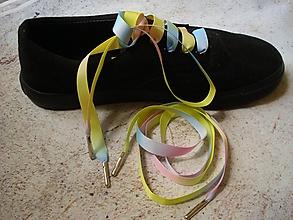 Obuv - Šnúrky do topánok - pastelovo-dúhové - 10607623_