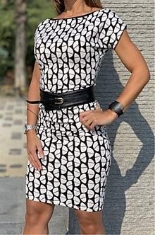 Šaty - Čierno-biele šaty - 10609986_