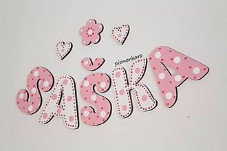 Tabuľky - SAŠKA dievčenské meno pre sestričky z drevených písmeniek - 10609037_