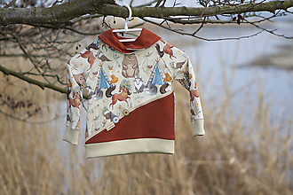 Detské oblečenie - Štýlová mikina - 10609378_