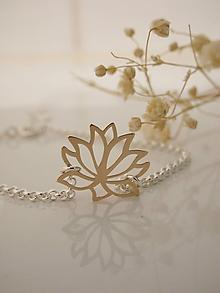 Náramky - Lotus (Zlatá) - 10609893_