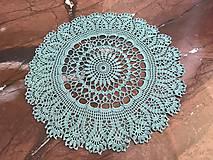 Úžitkový textil - Čipka na objednávku.  (Tyrkysová) - 10608988_