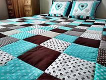 Úžitkový textil - Prehoz Tyrkys-Hnedá - 10607486_