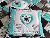 Úžitkový textil - Prehoz Tyrkys-Hnedá - 10607494_