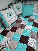 Úžitkový textil - Prehoz Tyrkys-Hnedá - 10607495_