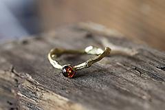 Prstene - Vetvičkový s baltským jantárom - 10608410_