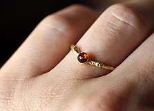 Prstene - Vetvičkový s baltským jantárom - 10608411_