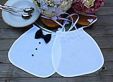 Svadobné podbradníky..biele