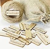 NT110 Tabuľka drevená Handmade 1,5 x 4 cm