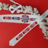 Opasky - Vyšívaný Dyona opasok; kravata; motýlik - 10608472_