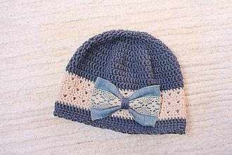 Detské čiapky - háčkovaná čiapka - 10608389_