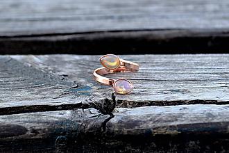 Prstene - Ethiópsky Opál prsteň - 10607139_