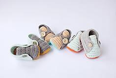 Topánočky - papučky s marhuľovým jazykom - 10608830_