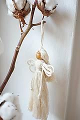Dekorácie - Anjel (natur) - 10607258_