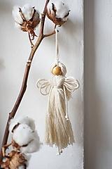 Dekorácie - Anjel (natur) - 10607259_