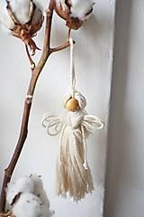 Dekorácie - Anjel (natur) - 10607260_