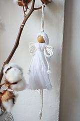 Dekorácie - Anjel (biely) - 10607274_