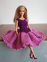 Hračky - Háčkované šaty pre Barbie - 10609164_