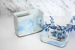 Nádoby - Betónová mydelnička Balneo Marble (Modrá) - 10607423_