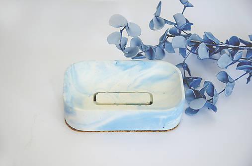 Betónová mydelnička Balneo Marble (Modrá)