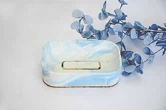 Nádoby - Betónová mydelnička Balneo Marble (Modrá) - 10607422_