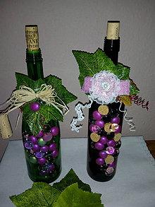 Dekorácie - fľaša - dekorácia - 10609304_