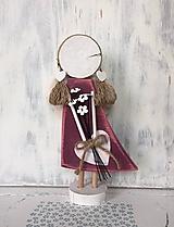 Dekorácie - Anjelik s kytičkou - vysoký - 10608105_