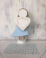 Dekorácie - Anjelik s ofinkou  (Modrá) - 10608160_