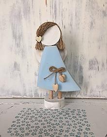 Dekorácie - Anjelik s ofinkou  (Modrá) - 10608159_